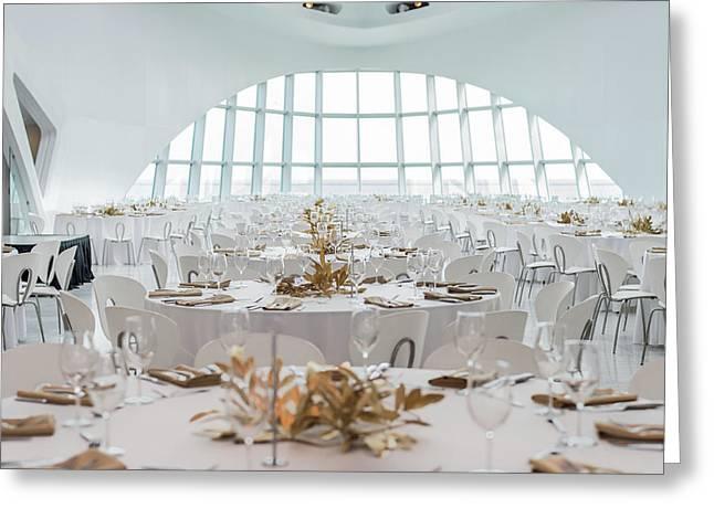 Elegant Room Setting Greeting Card by Keith Homan
