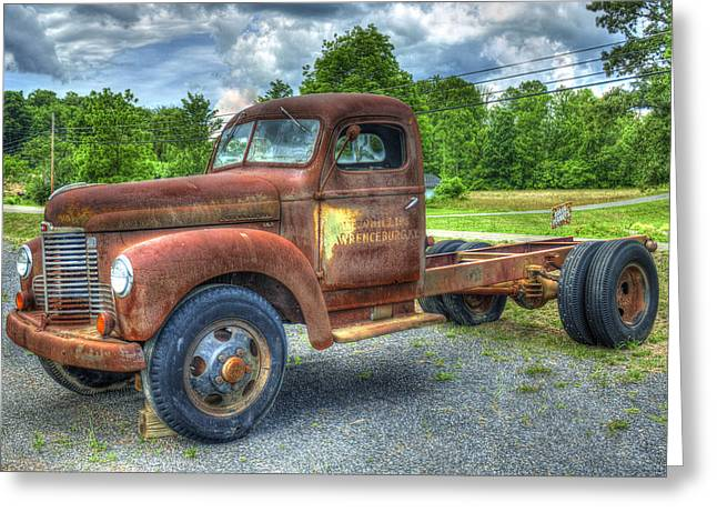 Elegant Rust 1947 International Harvester K B 5 Truck Greeting Card by Reid Callaway