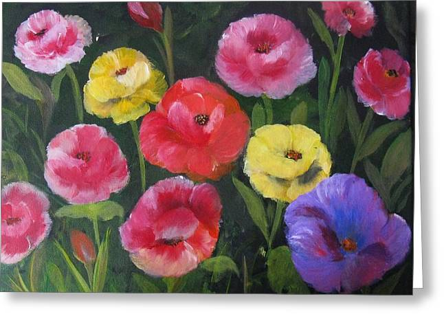 Greeting Card featuring the painting Elegant Smiles by Trilby Cole