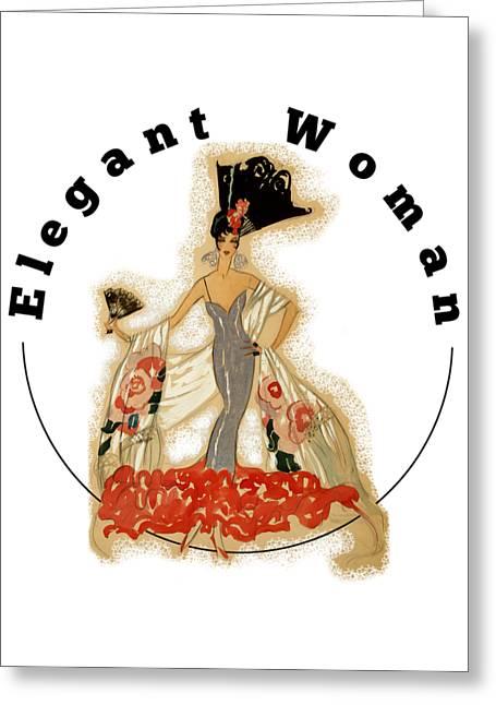 Greeting Card featuring the digital art Elegant Woman by Robert G Kernodle