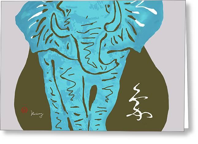 Elehpant Stylised Pop Art Poster Greeting Card