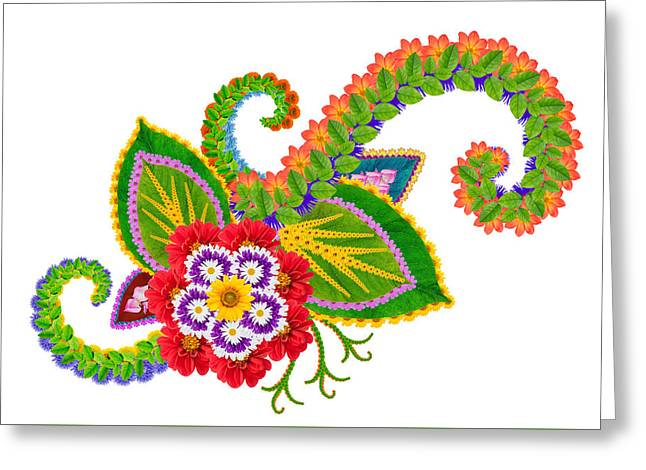 element of the Persian rug- Wild Orchid Greeting Card by Aleksandr Volkov