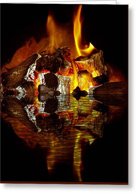 Element Reflections Greeting Card by Tom Gowanlock