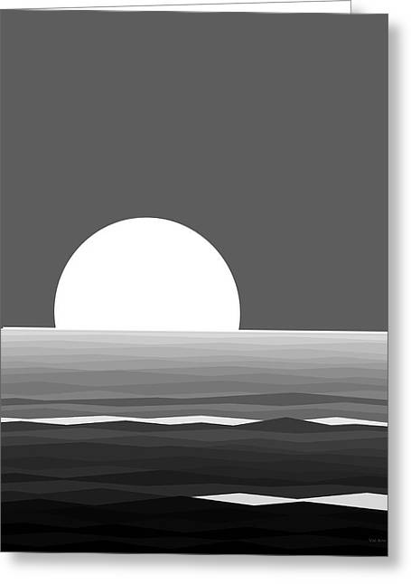 Elements - Black And White Water Greeting Card