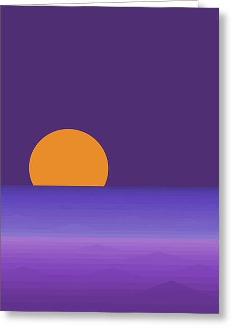 Elements - Lavender Sea - Purple Greeting Card by Val Arie