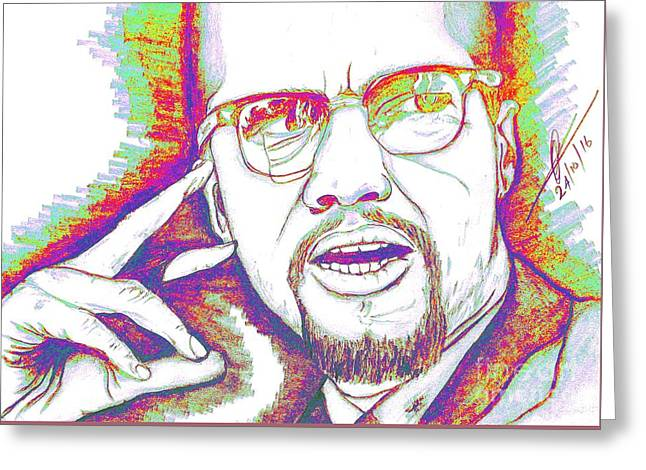 Elements Of A Malcolm X  Greeting Card by Collin A Clarke