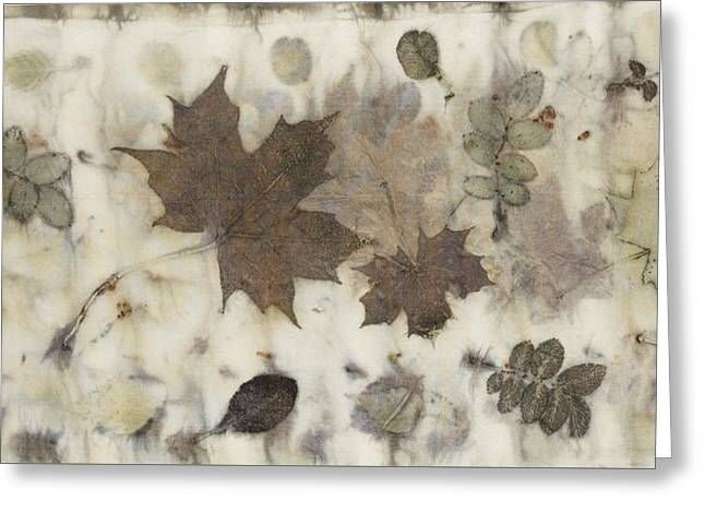 Elements Of Autumn Greeting Card by Carolyn Doe