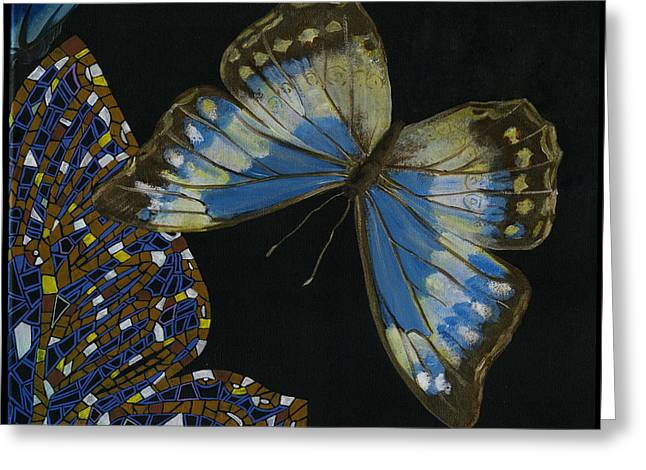 Elena Yakubovich - Butterfly 2x2 Top Right Corner Greeting Card by Elena Yakubovich