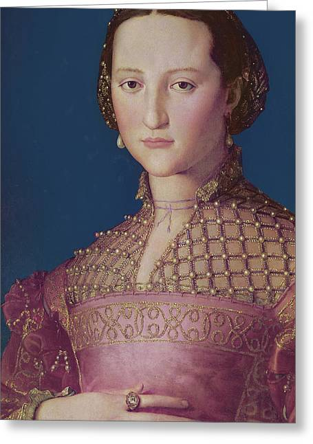 Eleonora Da Toledo Greeting Card by Agnolo Bronzino