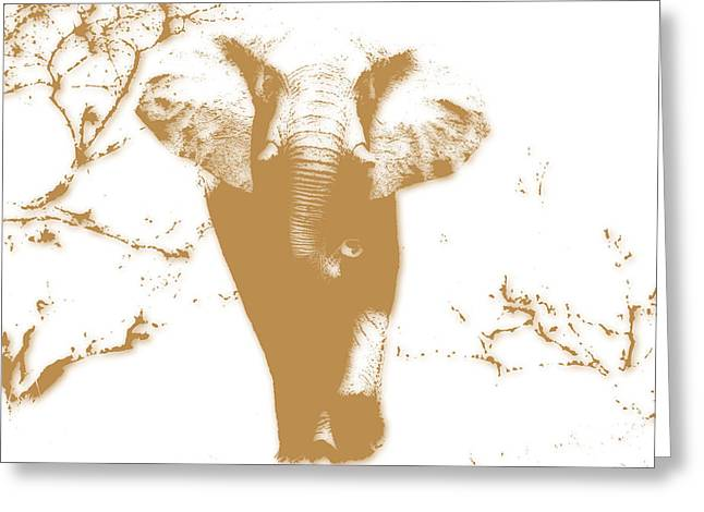 Elephant 2 Greeting Card by Joe Hamilton
