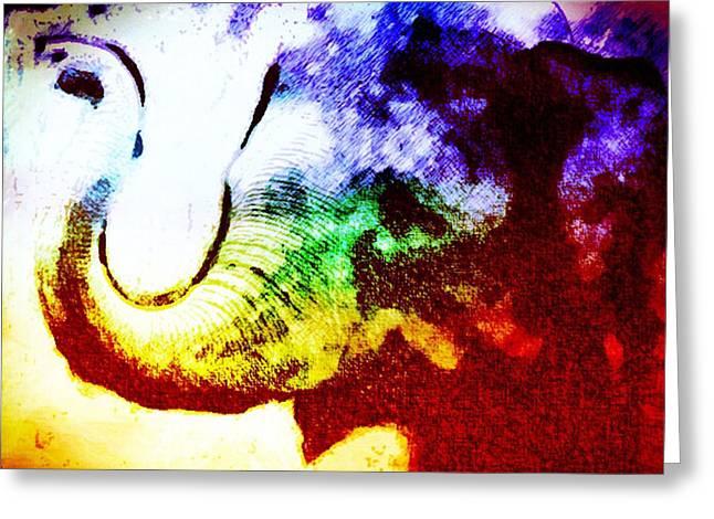 Elephant Energy Greeting Card