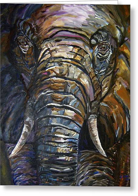 Elephant Faces Of Nature Series Greeting Card