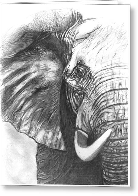 Elephant For Alabama  Greeting Card