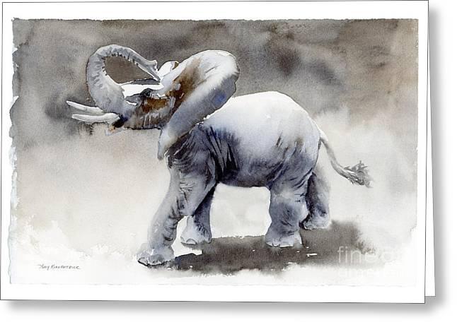 Elephant Light Study  Greeting Card by Amy Kirkpatrick