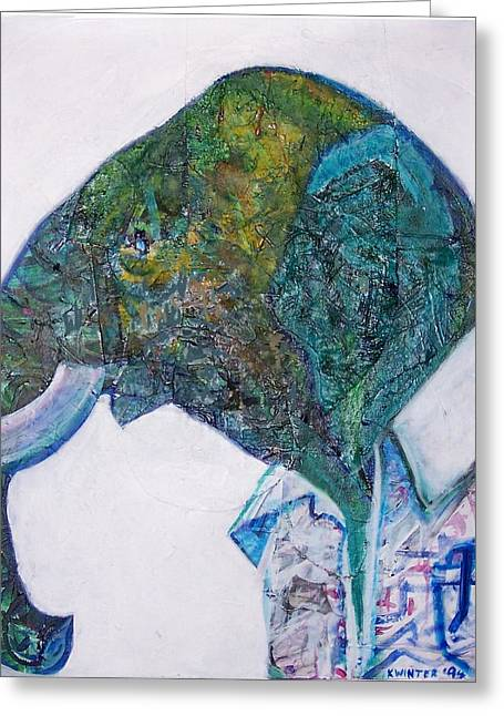 Elephant Man Greeting Card by Dave Kwinter