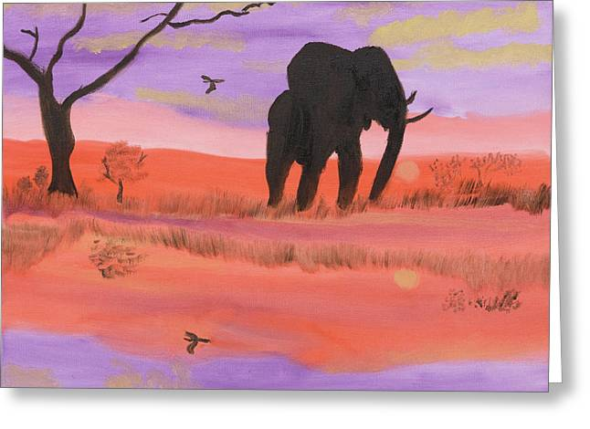 Elephant Spotlight Greeting Card