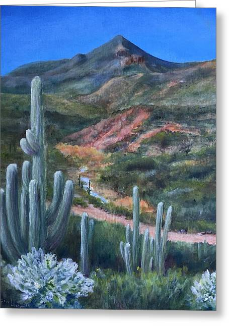 Elephant Mountain From Mariposa Hill Greeting Card