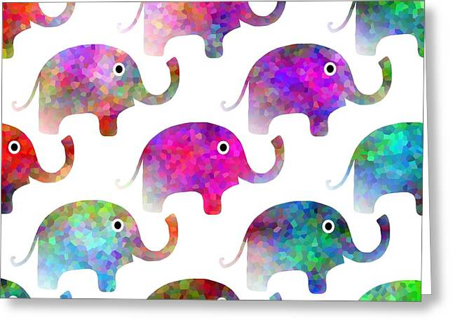 Elephant Parade Greeting Card by Kathleen Sartoris