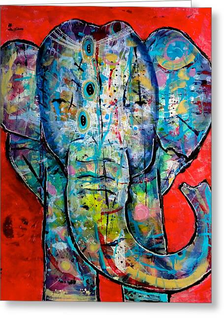 Elephant Redux Greeting Card