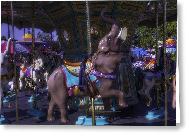 Elephant Ride At The Fair Greeting Card by Garry Gay