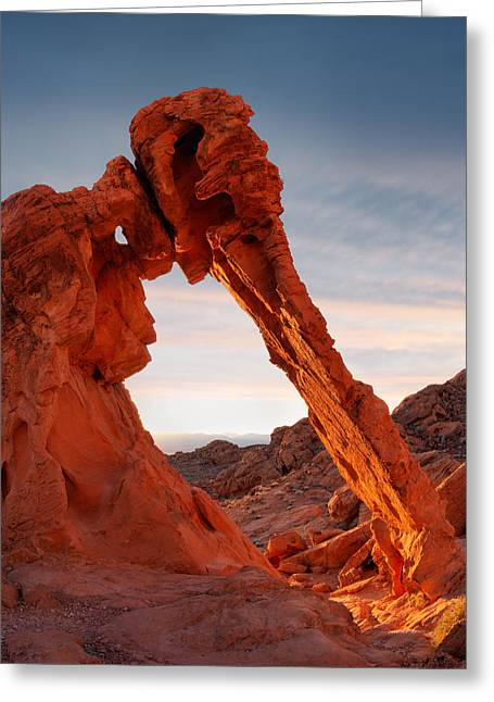 Elephant Rock Vertical Greeting Card by Leland D Howard