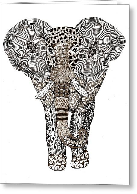 Elephant Greeting Card by Sharon White