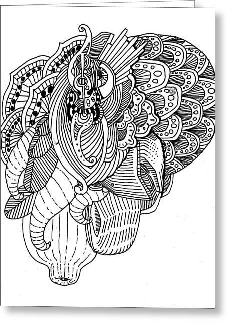 Elephant Greeting Card by Shih Chang Yang