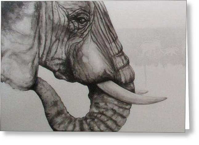 Elephant Tears Greeting Card