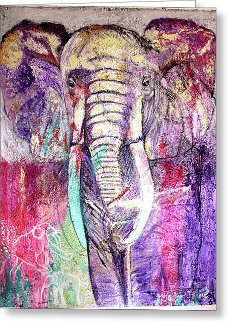 Elephant Greeting Card by Toni Willey