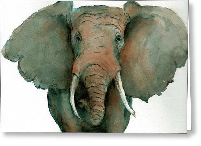 Elephant Up Close Greeting Card