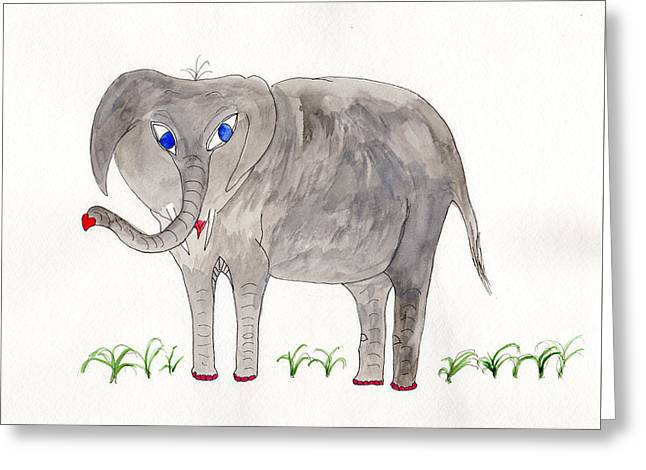 Elephoot And Friends Greeting Card