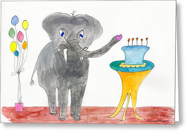 Elephoot's Birthday Greeting Greeting Card