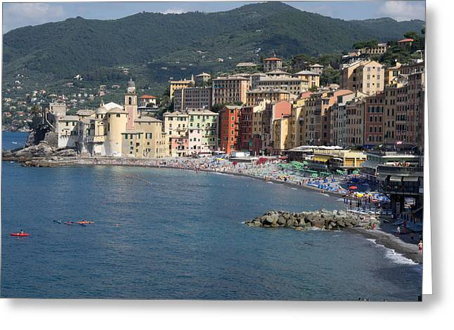 Elevated View Of The Camogli From Hotel Greeting Card by Panoramic Images