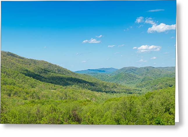 Elevated View Of The Great Smoky Greeting Card