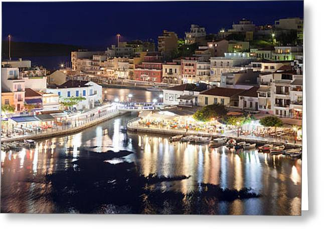 Elevated View Of The Voulismeni Lake Greeting Card by Panoramic Images