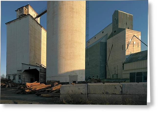 Elevators In Moscow Idaho Greeting Card by Jerry McCollum