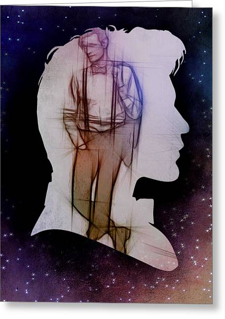 Doctor Who Inspired Eleventh Doctor Silhouette  Greeting Card
