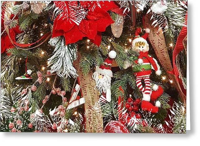 Elf In A Tree Greeting Card