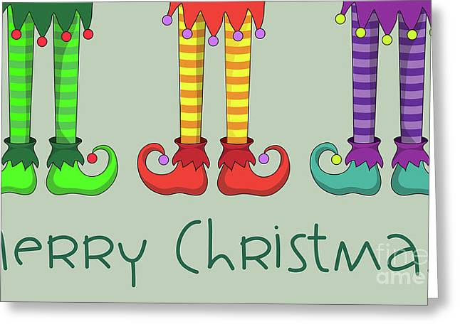 Elf Legs Greeting Card by Jane Rix