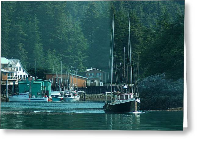 Elfin Cove Alaska Greeting Card