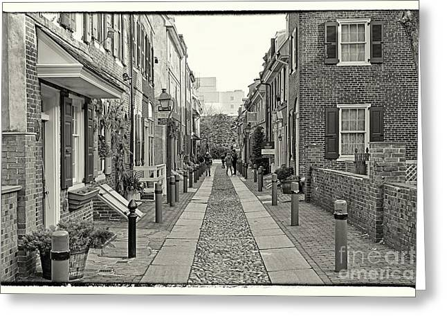 Elfreth's Alley 2 Greeting Card by Jack Paolini