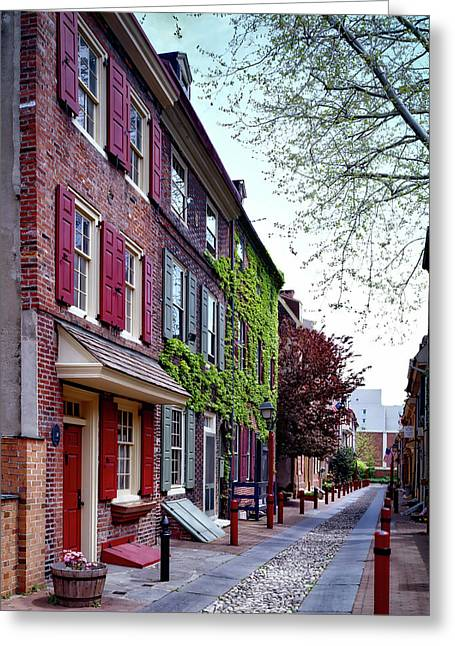 Elfreth's Alley Greeting Card by Mountain Dreams