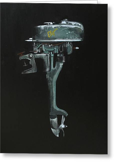 Elgin Outboard Greeting Card by Jeffrey Bess