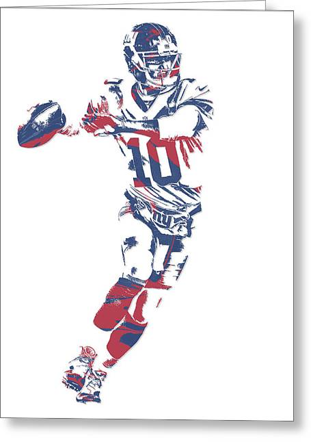 Eli Manning New York Giants Pixel Art 10 Greeting Card