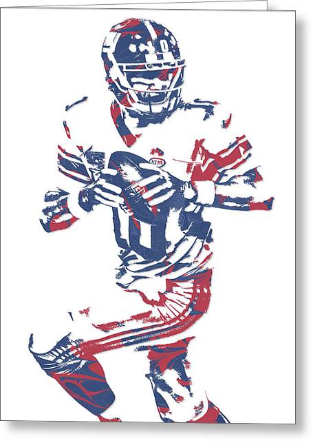 Eli Manning New York Giants Pixel Art 11 Greeting Card