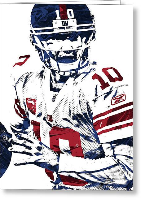 Eli Manning New York Giants Pixel Art 5 Greeting Card