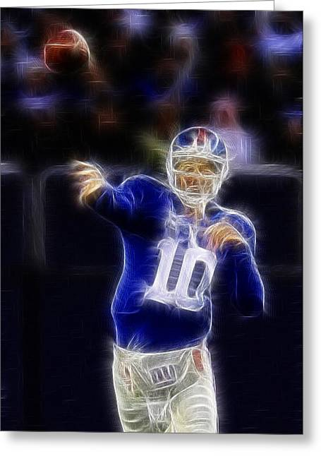 Eli Manning Greeting Card by Paul Ward