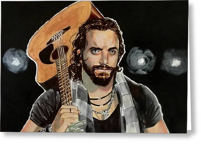 Greeting Card featuring the painting Elias Samson by Joel Tesch