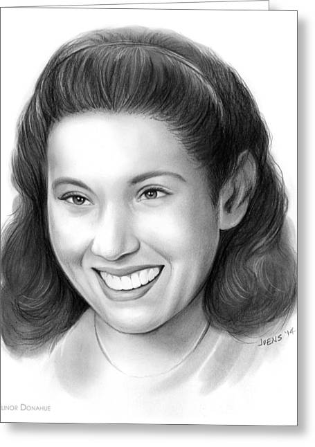 Elinor Donahue Greeting Card by Greg Joens