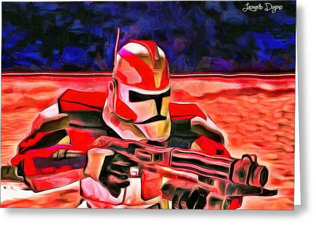 Elite Trooper - Da Greeting Card by Leonardo Digenio